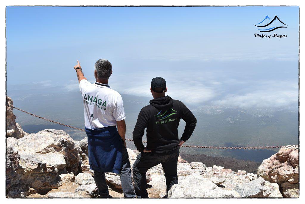 Vistas desde la cima del Teide
